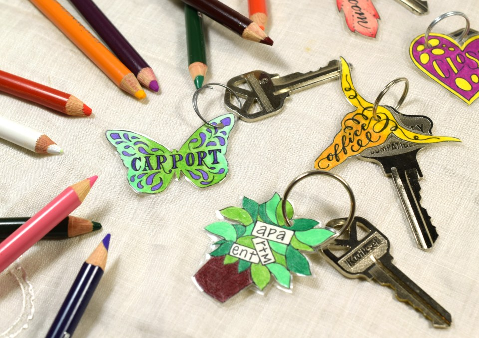 Artistic DIY Key Tag Labels Tutorial | The Postman's Knock