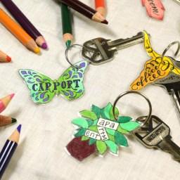 Artistic DIY Key Tag Labels Tutorial   The Postman's Knock