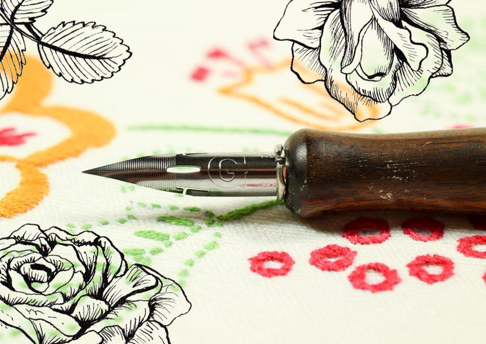 Drawing Nib BRAUSE ROSE with vintage design Calligraphy//drawing flexible nib UK