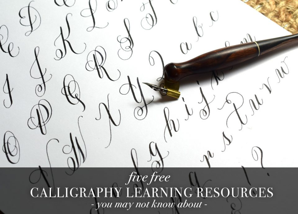 image regarding Copperplate Calligraphy Alphabet Printable named 5 Absolutely free Calligraphy Mastering Supplies Oneself Could Not Understand More than