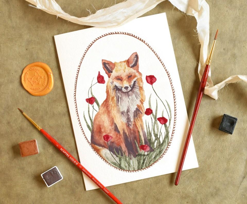 Elegant Printable Watercolor Cards + a Freebie   The Postman's Knock