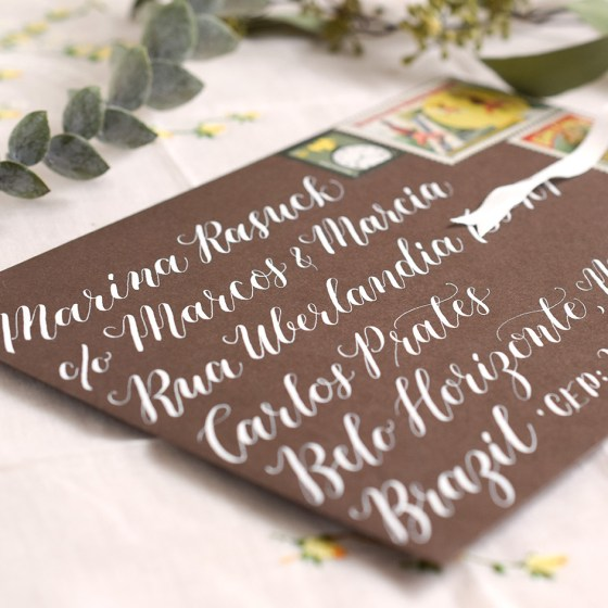 Kaitlin Style calligraphy makes any envelope look whimsical and elegant!