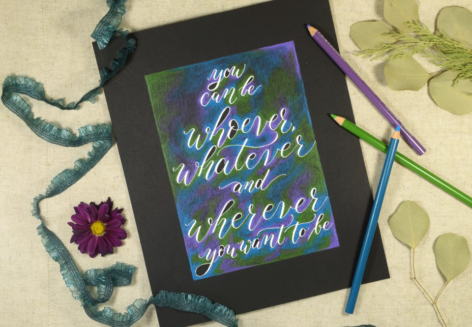 Simple Colored Pencil Calligraphy Tutorial | The Postman's Knock