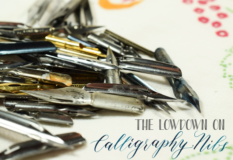 The Lowdown on Calligraphy Nibs | The Postman's Knock