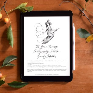 "The ""Not Your Average Calligraphy Drills: Spooky Edition"" packet is now available as a PROCREATE worksheet!"