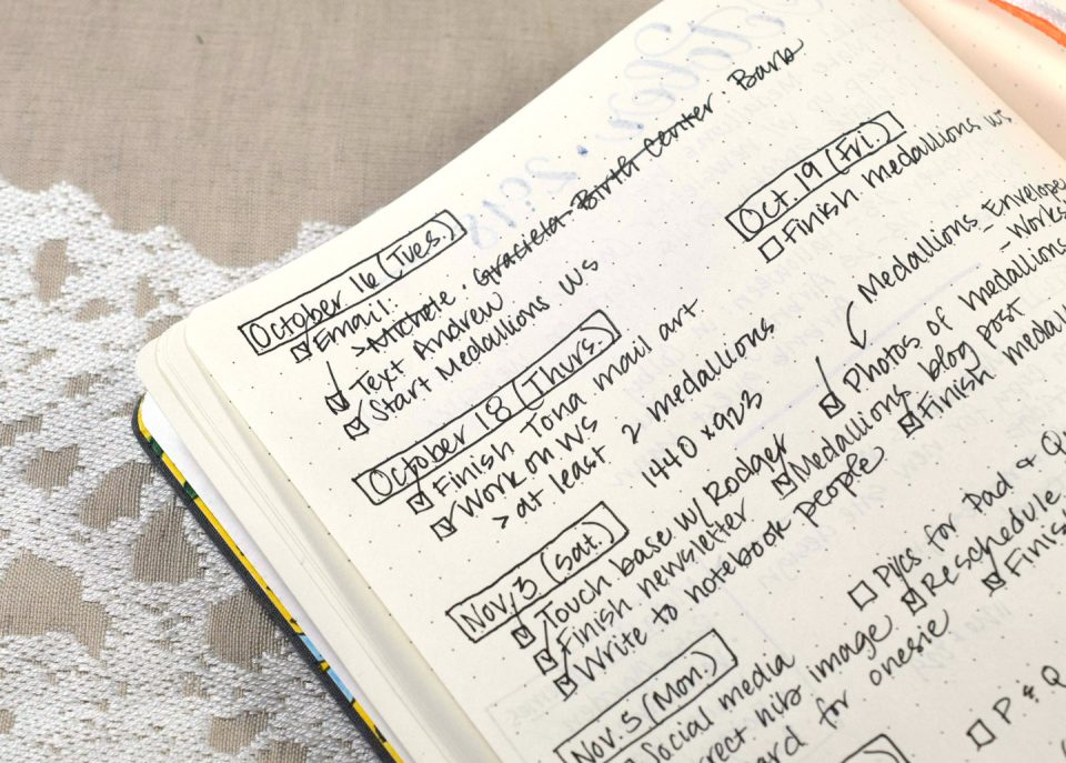 A Peek Inside My Hybrid Bullet Journal   The Postman's Knock