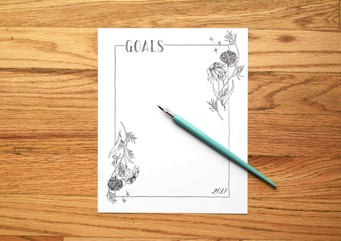The Ultimate New Year's Resolutions Guide + Printable Goal List   The Postman's Knock