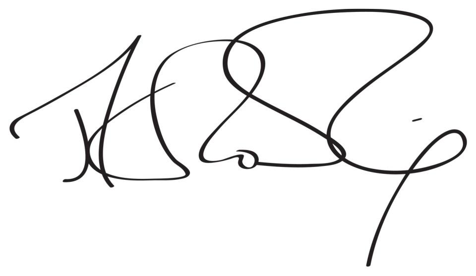 JK Rowling's Signature   The Postman's Knock
