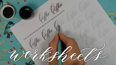 Featured Category - Calligraphy Worksheets | The Postman's Knock