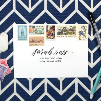 How to Address an Envelope – Simple + Chic (YouTube Tutorial)