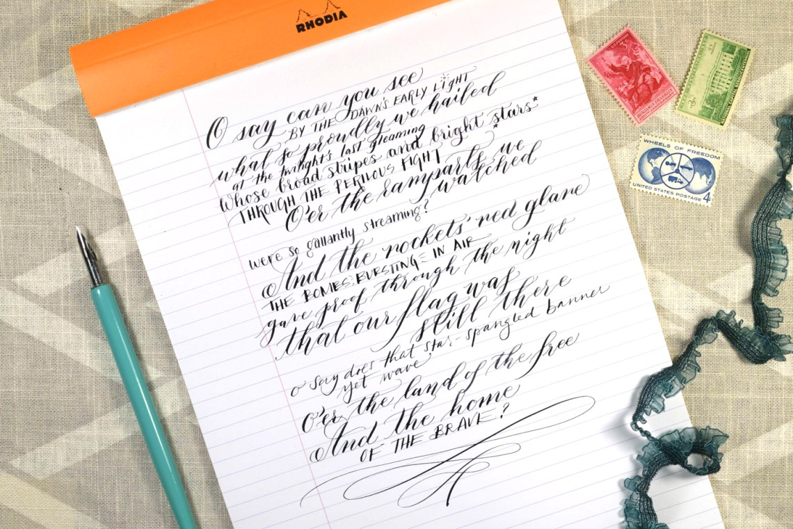 The Star Spangled Banner: Calligraphy + Lettering Edition YouTube Video | The Postman's Knock