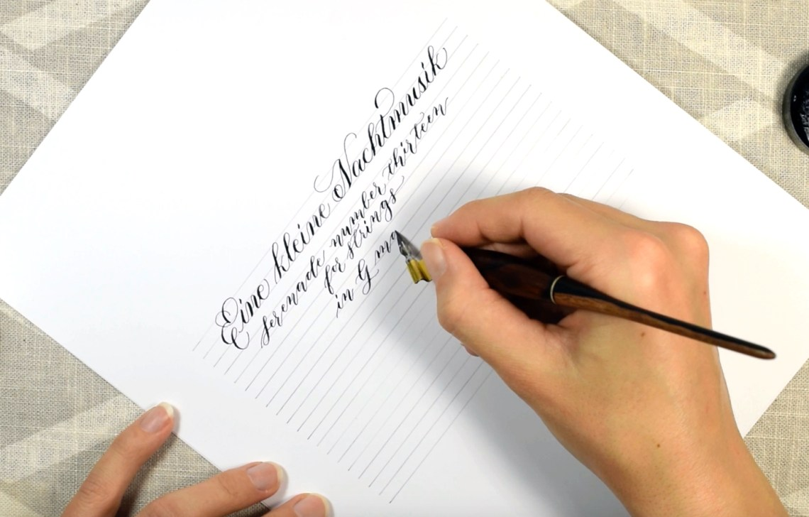 """Eine kleine Nachtmusik"" Calligraphy - A Relaxing YouTube Video 