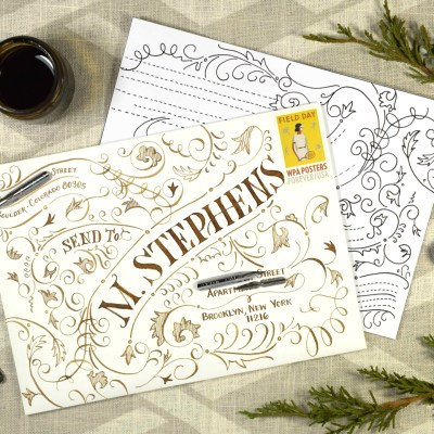 Typography Envelope Art Video Tutorial