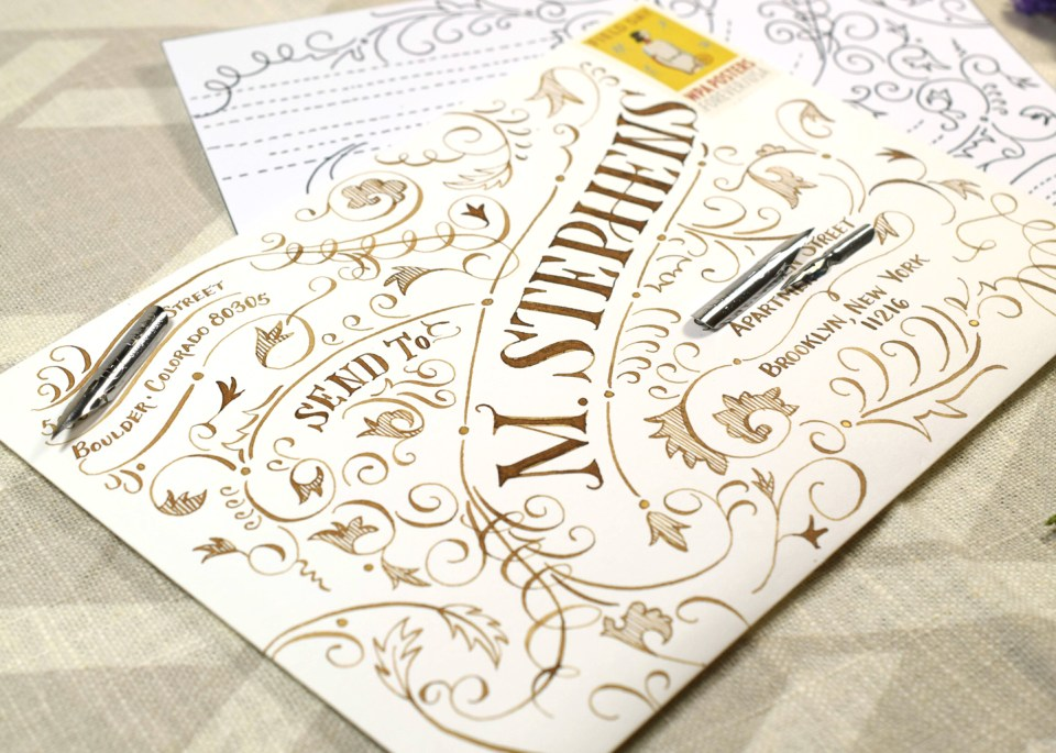 Typography Envelope Art Video Tutorial | The Postman's Knock