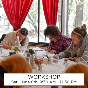 This workshop will take place Saturday, June 8th, from 9:30 AM to 12:30 PM