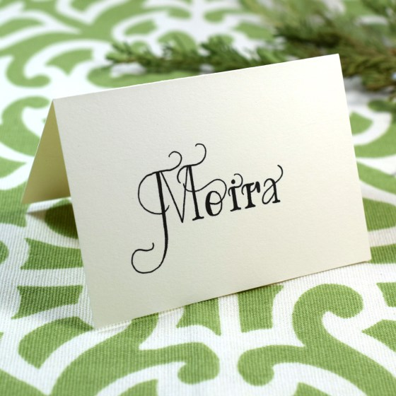Try using this lettering on place cards for your next event!