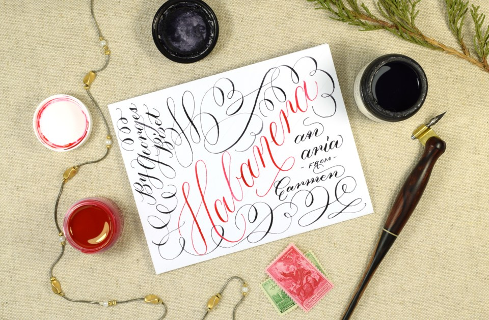 Habanera: A Musical Calligraphy Video | The Postman's Knock