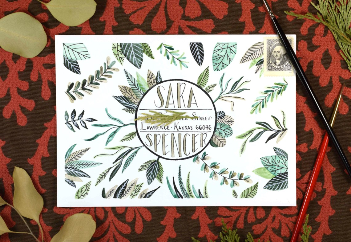 "Watercolor ""Safari"" Mail Art Tutorial 
