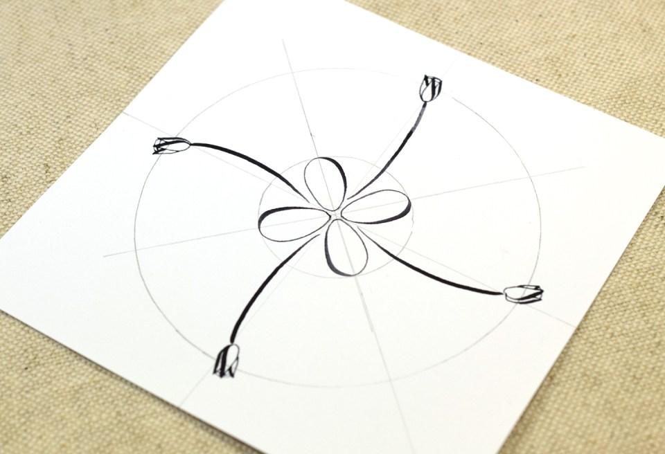 Springtime Calligraphy Medallion Tutorial | The Postman's Knock