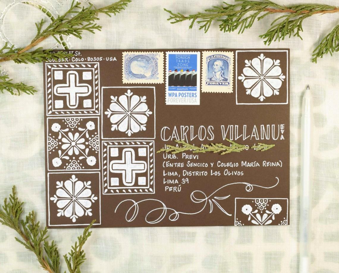(Seriously Gorgeous!) Talavera Mexican Tile Mail Art Tutorial   The Postman's Knock