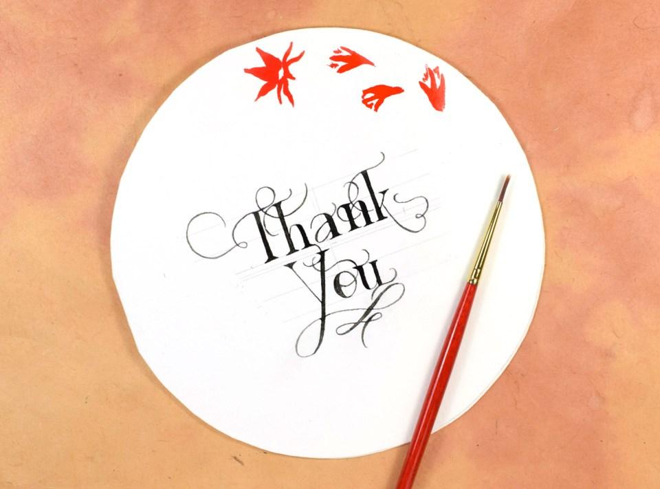 Circular Watercolor Thank You Card Tutorial | The Postman's Knock