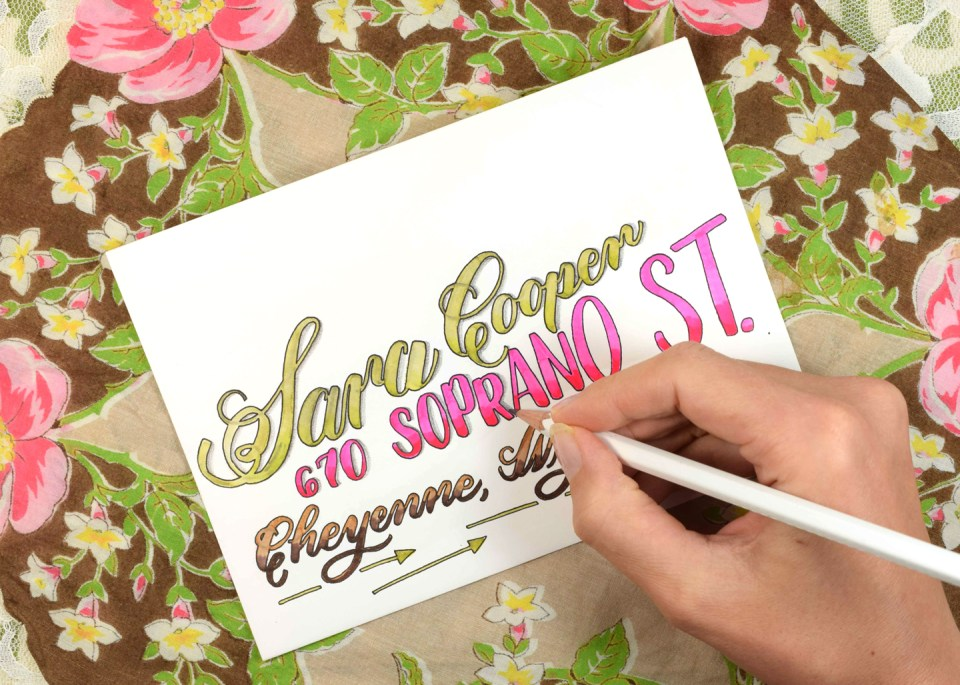 """Juicy"" Brush Pen Calligraphy Tutorial 