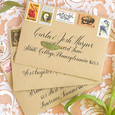 Modern Envelope Calligraphy Inspiration