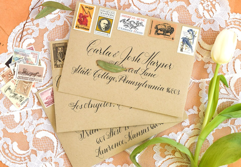 Janet Style Calligraphy Envelopes | The Postman's Knock