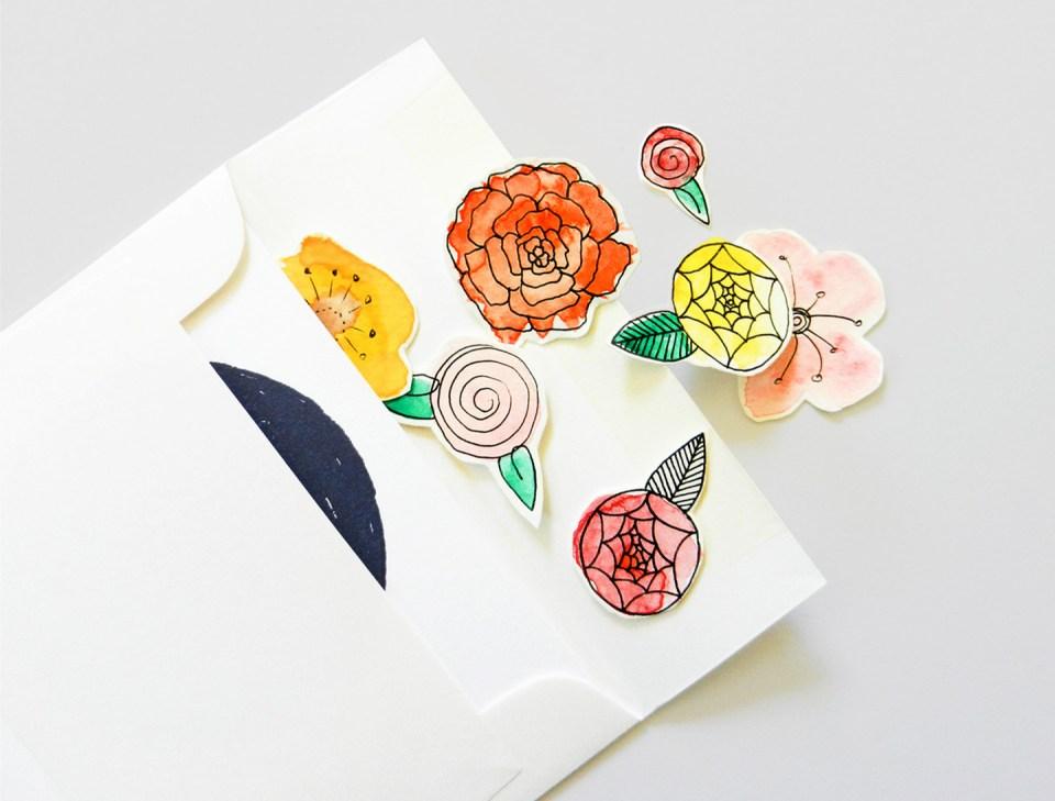 DIY Flower Confetti | The Postman's Knock