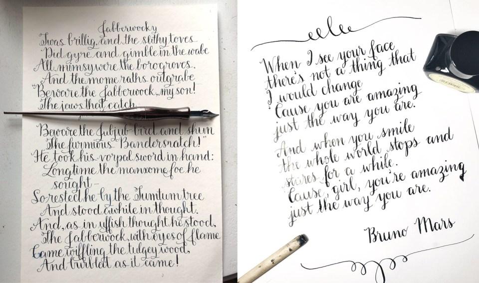 Amy Style Calligraphy Practice