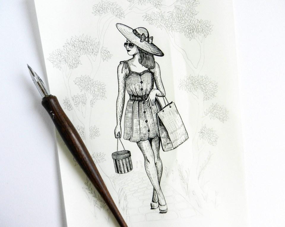 Springtime in Paris Illustration | The Postman's Knock
