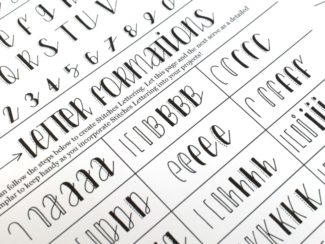 Stitches Hand Lettering Printable Worksheet   The Postman's Knock