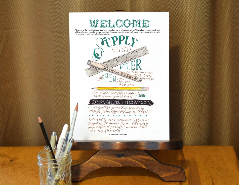 TPK's Hand Lettering Worksheet Set
