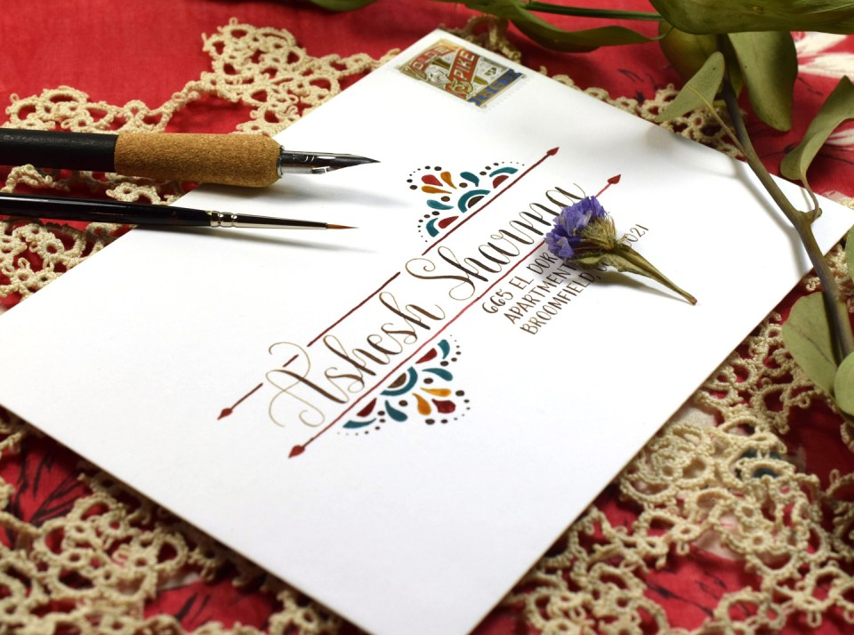 Simple Southwestern Envelope Art Tutorial | The Postman's Knock