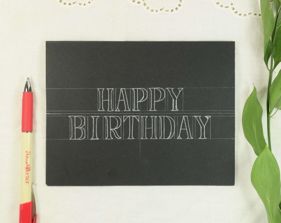 Simple Starry Birthday Card Tutorial | The Postman's Knock