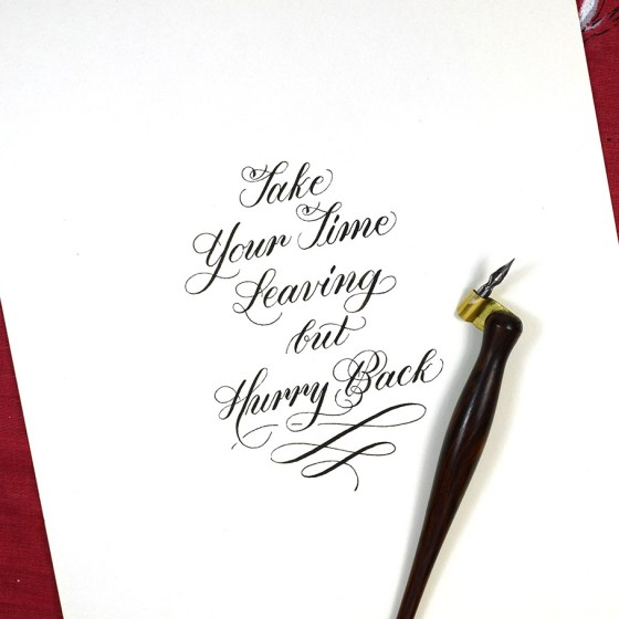 "You might recognize this from the ""How to Make Calligraphy Quote Art"" tutorial!"