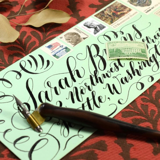 The Brause Rose nib is capable of creating very dramatic stroke contrast!