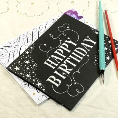 Simple Starry Birthday Card Tutorial