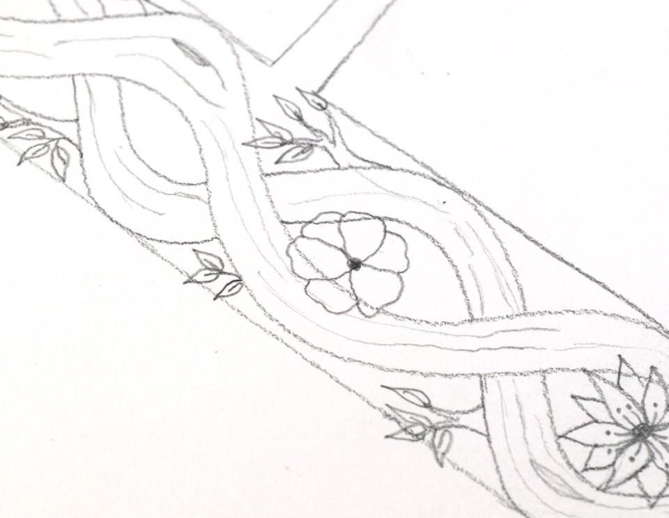 Drawing flower 2: step 2