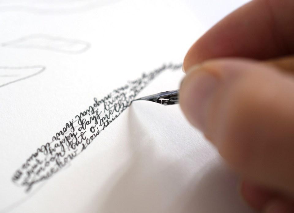 Calligraphy Artwork Tutorial: Woman's Silhouette | The Postman's Knock