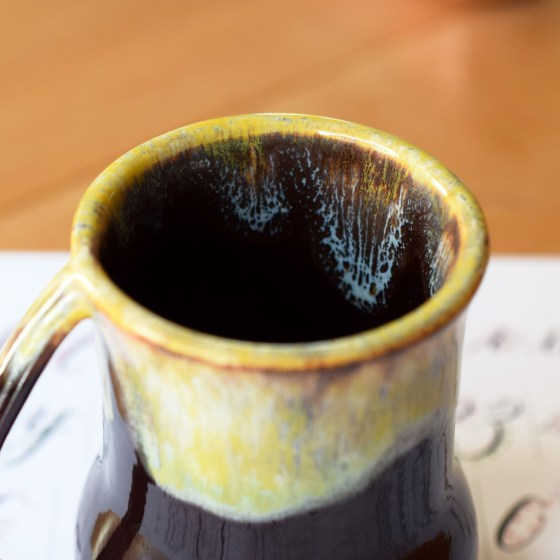 The drip glaze adds beautiful personality to every cup! No two cups are alike.