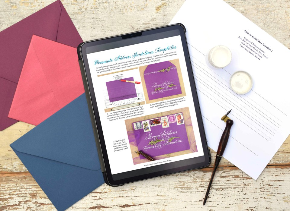 Marvelous Mail eBook with Envelopes and Address Guidelines Template