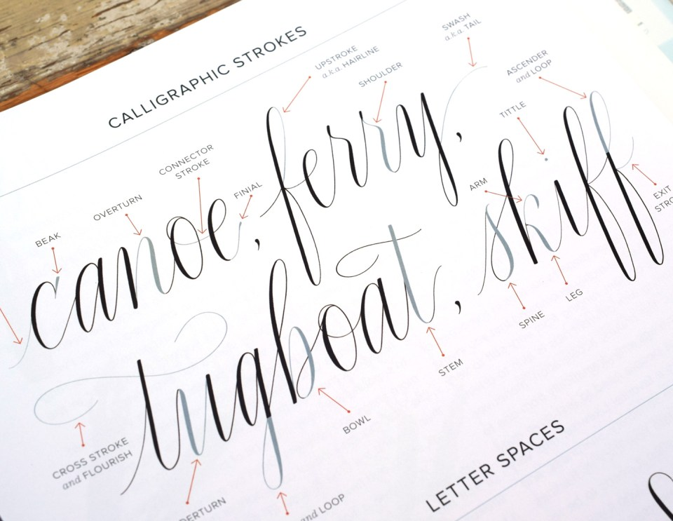 """Page from """"Mastering Modern Calligraphy"""""""