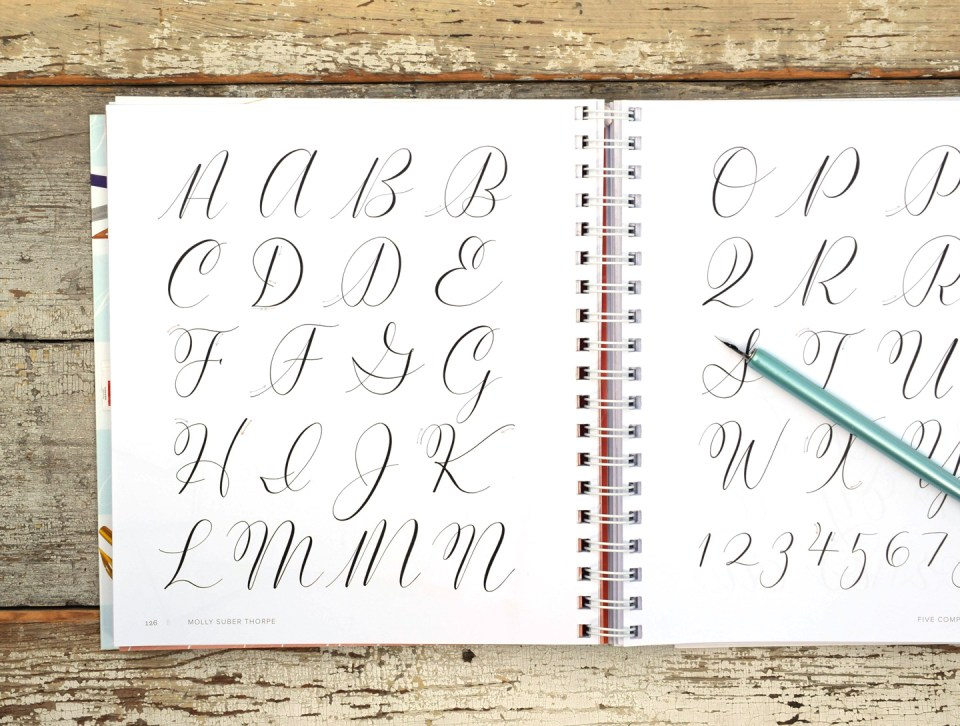 """Exemplar from """"Mastering Modern Calligraphy"""""""