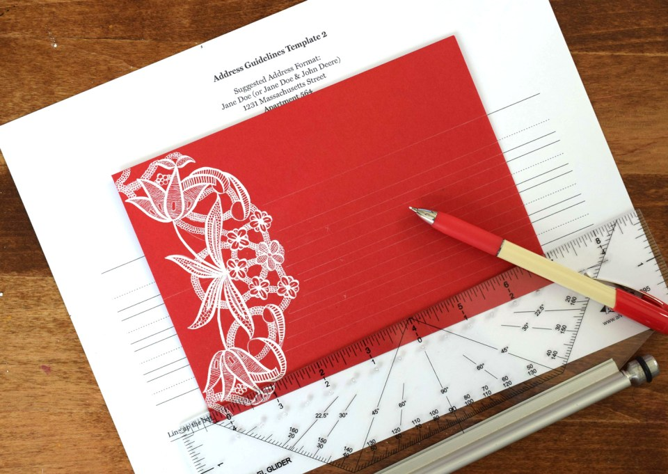 Drawing envelope guidelines