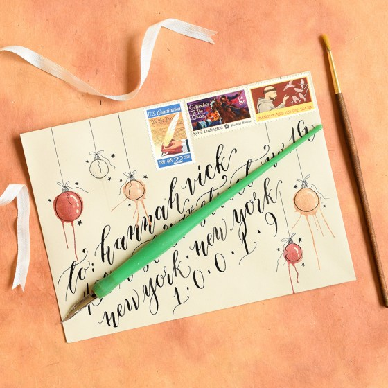 The ornaments on this festive envelope were filled in using tones from the Pearl Colors palette!