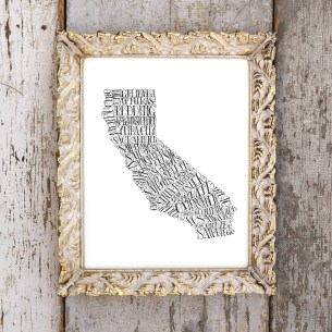 This original art print is perfect for anyone who lives in California (or is California dreamin')!