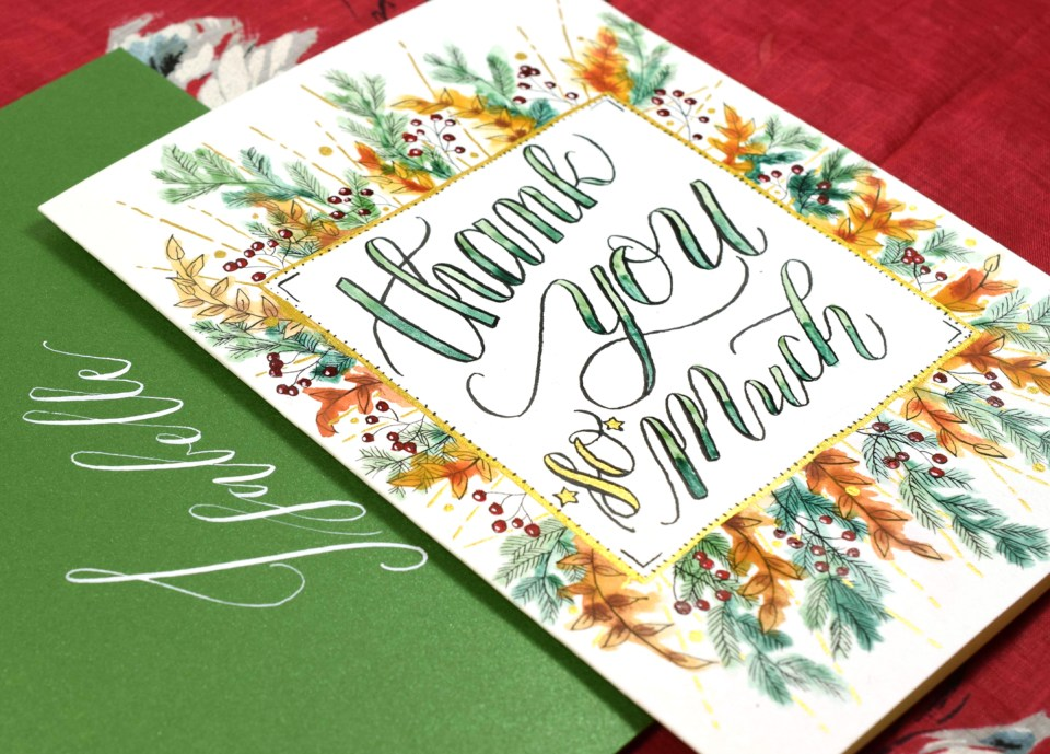 """Winter Abundance"" Watercolor Thank You Card Tutorial"