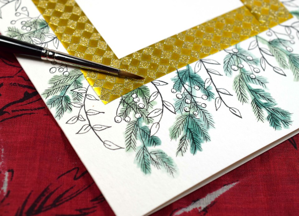 "Making a ""Winter Abundance"" Watercolor Thank You Card"