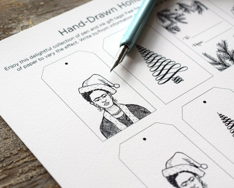 Printable Hand-Drawn Gift Tags